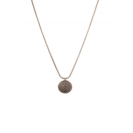 Collier pendentif glamour métal   argenté