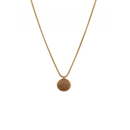 Collier pendentif féminin métal | doré