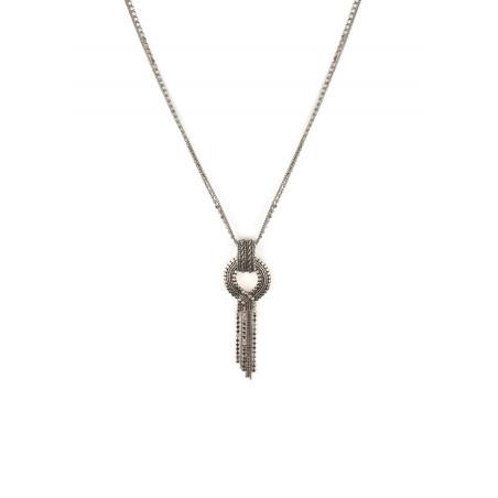 Collier pendentif festif métal   argenté