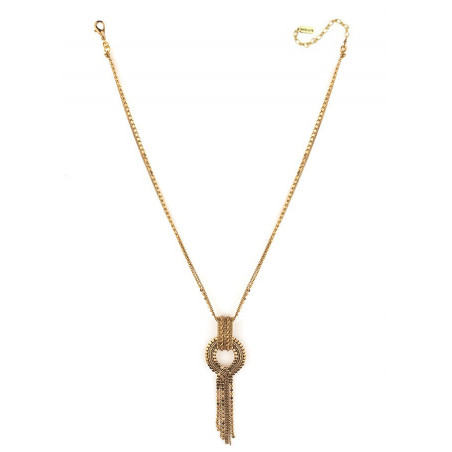 Glamorous metal pendant necklace l gold-plated75909
