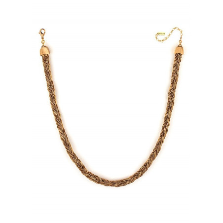 Glamorous plaited metal choker necklace | gold-plated75919
