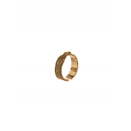 Chic adjustable metal ring | gold-plated