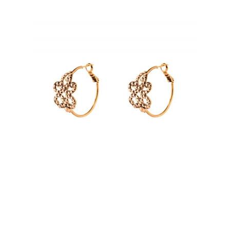 Refined crystal hoop earrings for pierced ears | gold