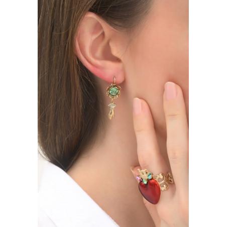 Boucles d'oreilles dormeuses élégantes main strassée | multicolore76011