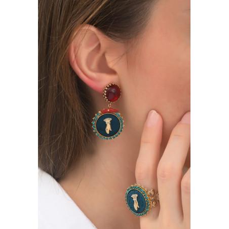 Boucles d'oreilles clips baroques main strassée | multicolore76029