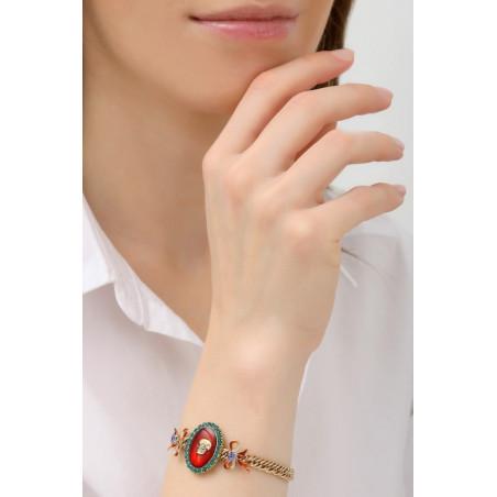 Bracelet souple baroque strass et tête de mort | multicolore76056