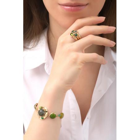 Poetic jade, aventurine crystal flexible bracelet l green76105