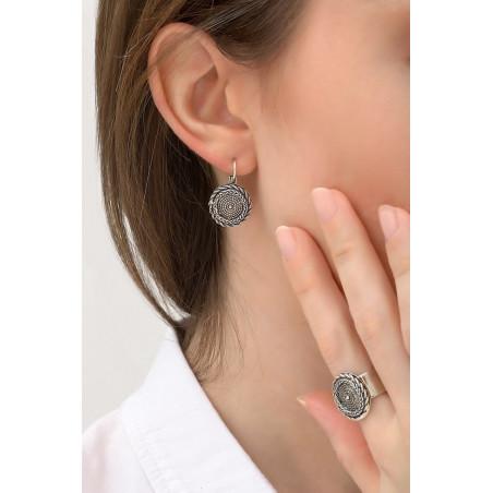 Boucles d'oreilles dormeuses modernes métal | argenté76150