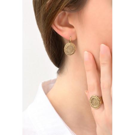 Feminine metal sleeper earrings | gold-plated76155