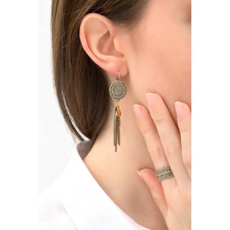 Refined metal sleeper earrings | gold-plated76156