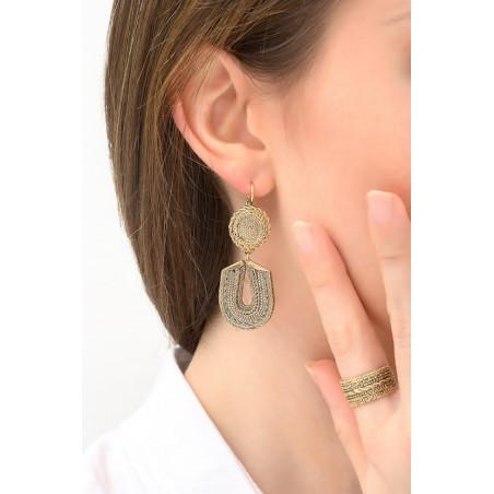 Boucles d'oreilles dormeuses glamour métal | doré76157