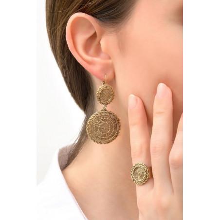 Boucles d'oreilles dormeuses chics métal | doré76158