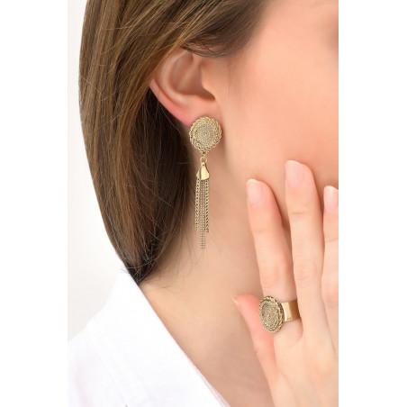 Boucles d'oreilles clips raffinées métal | doré76159