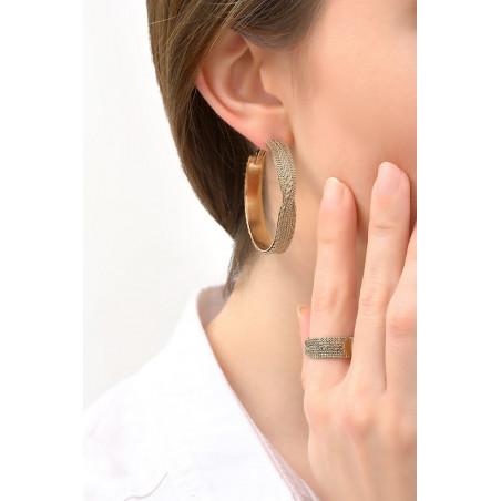 Fantasy metal hoop earrings for pierced ears | gold-plated76162