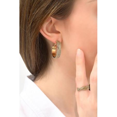 Boucles d'oreilles créoles percées glamour métal   doré76163