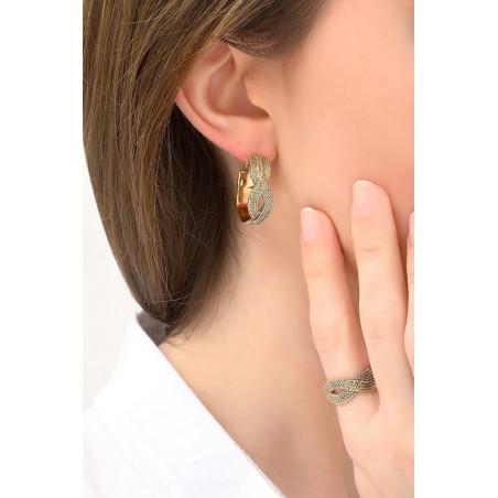 Elegant metal hoop earrings for pierced ears | gold-plated76164