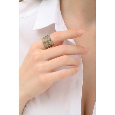 Bague ajustable tendance métal tressé | doré76169