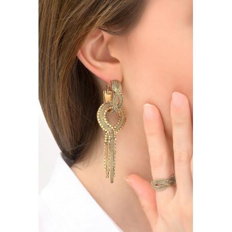 Boucles d'oreilles percées glamour métal | doré76173