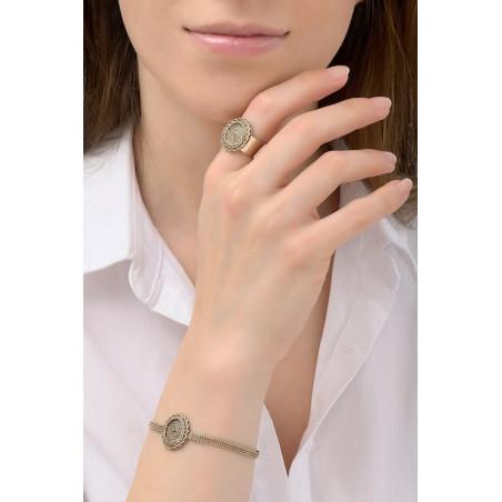 Bracelet souple solaire métal | doré76185