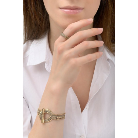 Small glamorous flexible metal bracelet | silver-plated76186