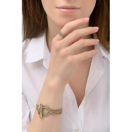 Bracelet souple glamour métal | doré76187
