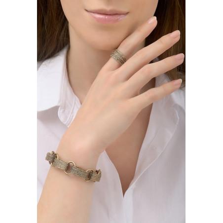 Bracelet souple raffiné métal | doré76189