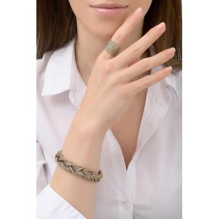 Bracelet souple chic métal tressé | doré76190
