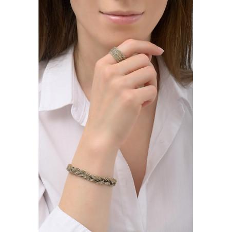 Feminine flexible plaited metal bracelet   gold-plated76191