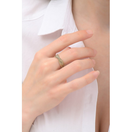 Chic adjustable metal ring | gold-plated76194