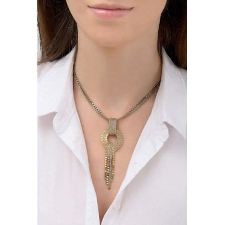 Glamorous metal pendant necklace l gold-plated76198