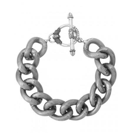 Bracelet chaîne moderne métal I argenté