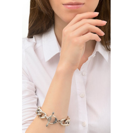 Bracelet chaîne moderne métal I argenté76217
