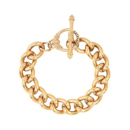 Bracelet chaîne délicat métal I doré76218