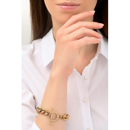 Bracelet chaîne délicat métal I doré76220