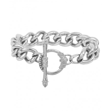 Charming metal chain bracelet I silver-plated