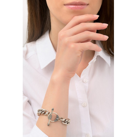 Charming metal chain bracelet I silver-plated76222