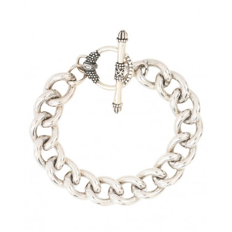 Charming metal chain bracelet I silver-plated76223