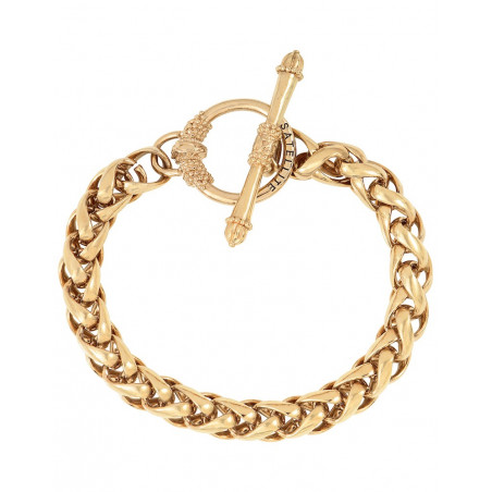 Chic metal chain bracelet I gold-plated76225
