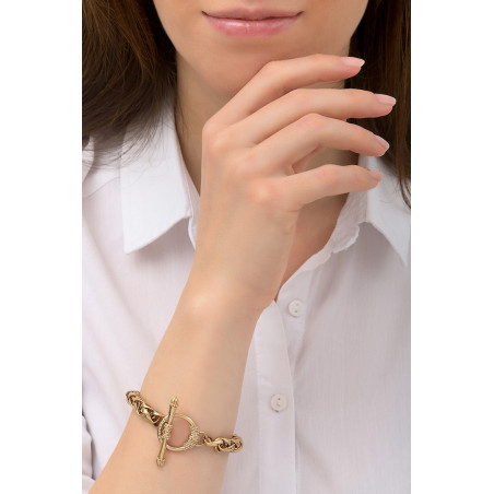 Chic metal chain bracelet I gold-plated76226