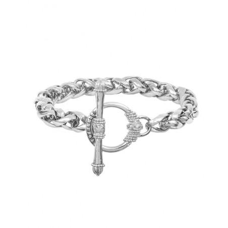 Bracelet chaîne sophistiqué métal I argenté