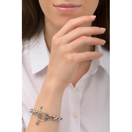 Bracelet chaîne sophistiqué métal I argenté76228