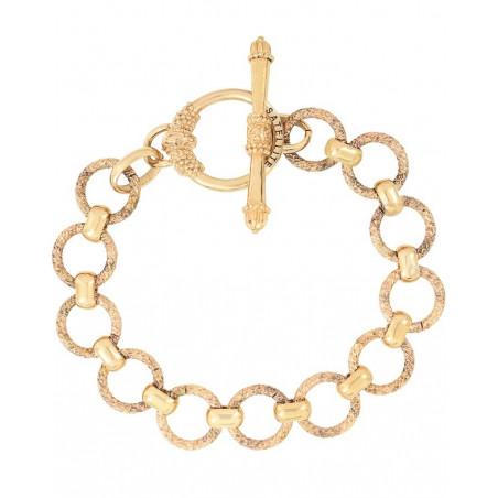 Bracelet chaîne poétique métal I doré76229