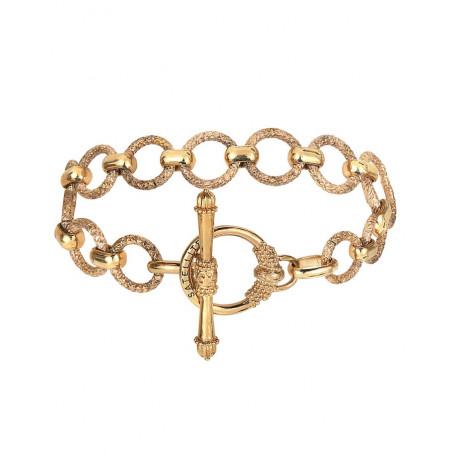 Bracelet chaîne poétique métal I doré