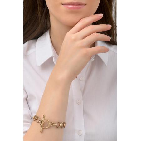 Bracelet chaîne poétique métal I doré76231