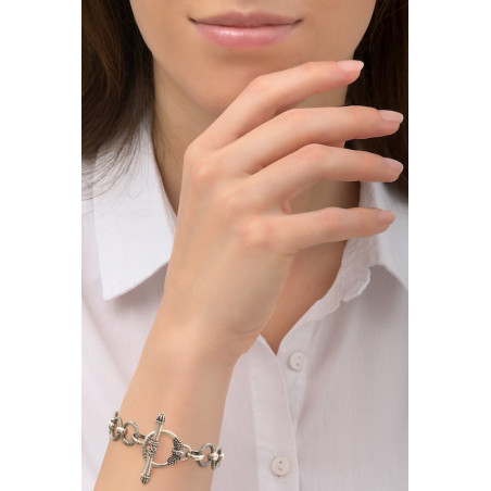Timeless metal chain bracelet | silver-plated76234