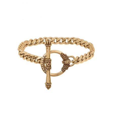 Bracelet chaîne gourmette fine métal I doré