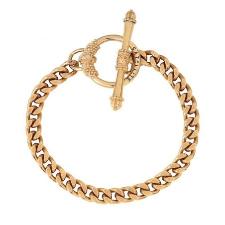 Bracelet chaîne gourmette fine métal I doré76242