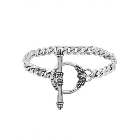 Chic metal curb chain bracelet I silver-plated
