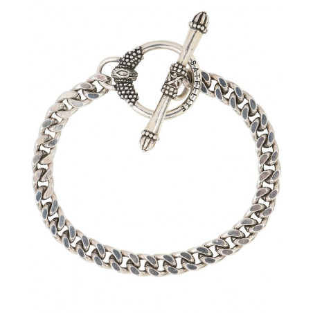 Chic metal curb chain bracelet I silver-plated76245