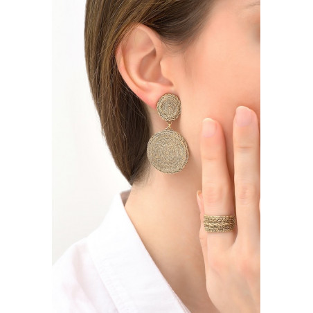 Chic metal clip-on earrings | gold-plated76248